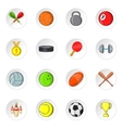 Sport equipment icons cartoon style vector image vector image