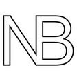 symbol sign nota bene nota bene n b nb vector image