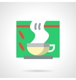 Tea for colds flat color icon vector image vector image