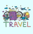 travel collection vector image