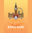 travel to england airplane with attractions vector image vector image