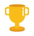 trophy award sign vector image vector image