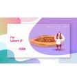 turkish food website landing page man wearing vector image