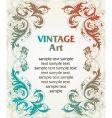 vintage template frame vector image