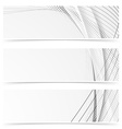 Web abstract modern swoosh gray line banners vector image vector image