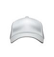 white baseball cap isolated on background vector image