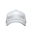 White Baseball Cap Isolated on White Background vector image vector image