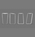 white phone angles frames vector image