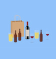wine and beer isolated vector image vector image