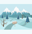 winter mountain landscape background vector image