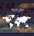 world map floral pattern on colorful polygon vector image vector image