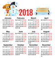 yellow dog symbol of year 2018 winter vacation vector image vector image