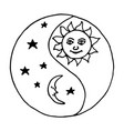 yin yang moon at night vector image