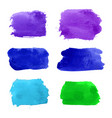 set of navy turquoise blue violet green vector image