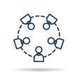 icon people working together vector image