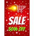 Sale winter vector image