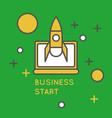 startup brochure cover design vector image