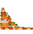 a pile of pumpkins vector image vector image
