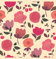 abstract dust color floral seamless pattern vector image vector image