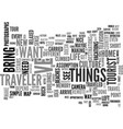 are you a traveler text word cloud concept vector image vector image