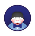 avatar of elderly man with fashion accessories vector image