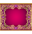 background with gems and gold ornaments vector image vector image