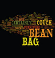 bean bag cover text background word cloud concept vector image vector image
