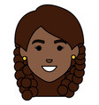 beautiful african head woman avatar character vector image vector image