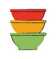 bowls vector image vector image
