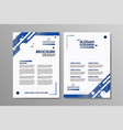 business brochure flyer design template vector image vector image