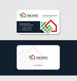 business card for real estate investment group vector image vector image