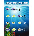 can you solve this math worksheet vector image vector image