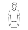 character man male portrait people vector image vector image