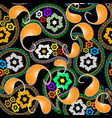 colorful paisley seamless pattern ornamental vector image
