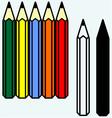colorful set pencils vector image