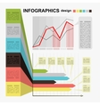 Conceptual blank - colorful infographics design vector image vector image