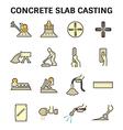 Concrete floor icon vector image