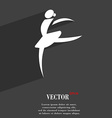 Dance girl ballet ballerina symbol Flat modern web vector image