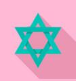 david star icon flat style vector image vector image