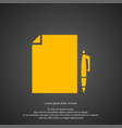 document icon simple student element symbol vector image