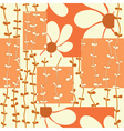 eamless pattern with flowers vector image