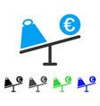 euro trade swing flat icon vector image vector image
