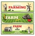 Farm To Table Concept Banners Set vector image vector image
