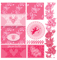 flowers pink wedding 1 380 vector image vector image