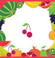 fruit frame on a white background vector image vector image