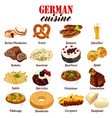 german food cuisine vector image vector image