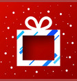 gift box in snow vector image vector image