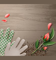 gloves and flower vector image vector image