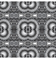 grey geometry vintage floral seamless pattern vector image vector image