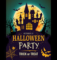 halloween poster scary party invitation flyer vector image vector image